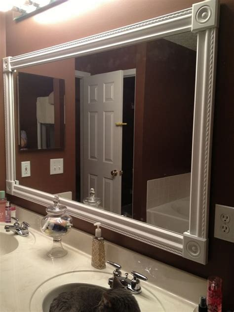 diy bathroom mirrors diy bathroom mirrors bathroom mirrors and moldings on