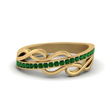 Wedding Bands Emerald by Affordable Emerald Wedding Bands For Fascinating