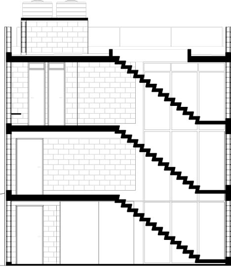 section through staircase staircase cross section images