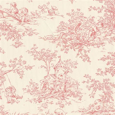 Vintage Floral Duvet Baby Toile Blush Fabric By The Yard Pink Fabric