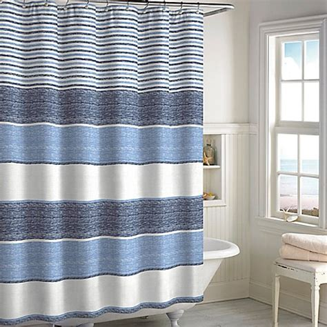 bed bath and beyond marina marina woven stripe shower curtain bed bath beyond