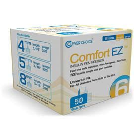 comfort ez pen needles comfort ez clever choice pen needles 32g x 6mm