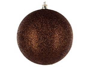 brown glitter ball ornaments shop hobby lobby