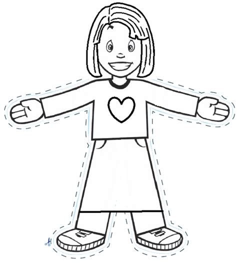 Flat Stanley Template Printable by Pin Printable Flat Stanley Template