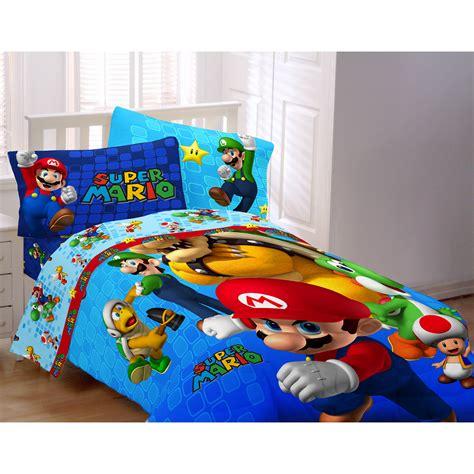 mario fresh  twinfull comforter boys bedding