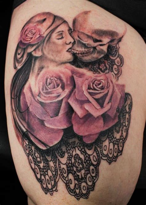 kiss of death tattoo of by steve phipps tattoonow
