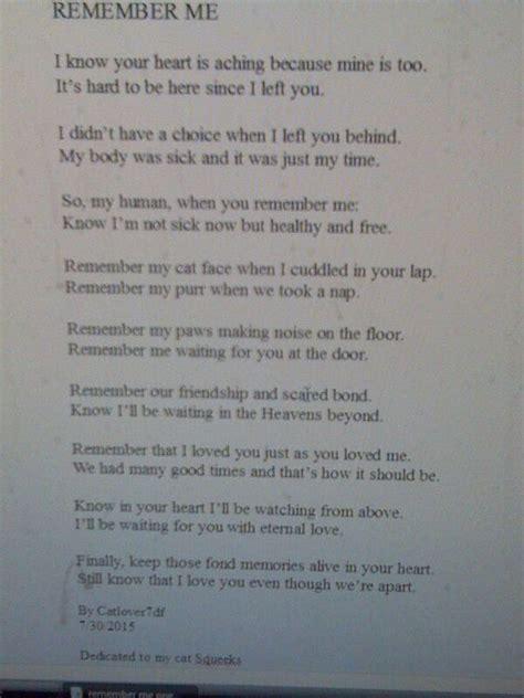 remember  poem beloved pet pinterest poem