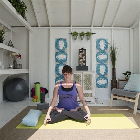 yoga gym shed transformation ideas