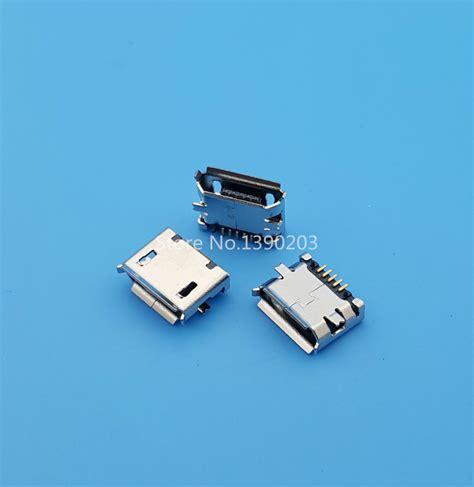 Socket Usb B Tancap Pcb 100pcs micro usb type b 5pin smt socket pcb mount solder connectors in connectors from