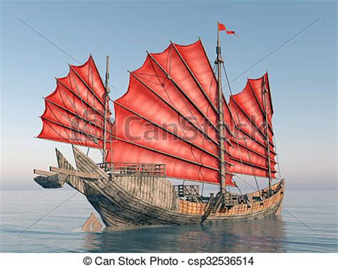 junk boat drawing clipart of chinese junk ship computer generated 3d