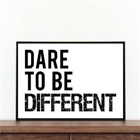 dare to be different typography print by coco and dee
