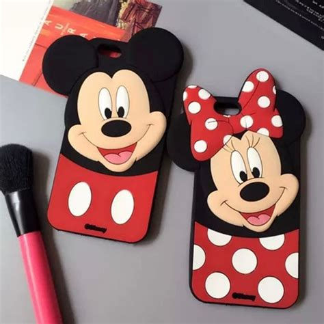 Hv8406 Iphone 5 5s Minnie Mouse Disney Silicone Rubb Kode Bis8460 capa iphone 5 6 3d minnie mickey disney silicone