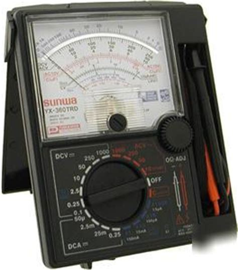 Multimeter Analog Sunwa sunwa 20 range analog multimeter vom capacitance meter
