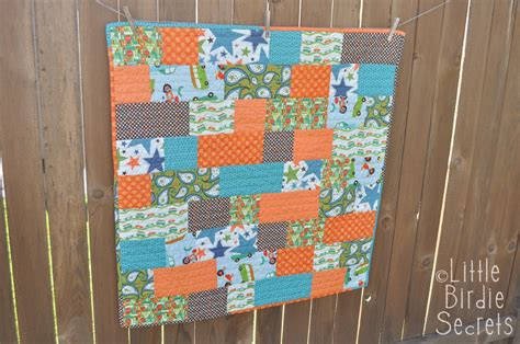 Basic Patchwork Quilt Pattern - and easy baby quilt birdie secrets