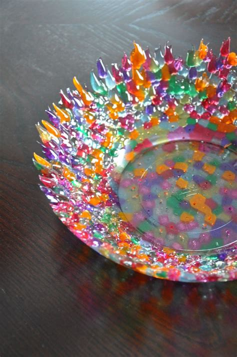 bead melting melted pony bead bowl crafts