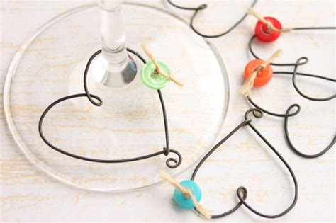 6 unique shaped wine glass charms with by kraze4paper