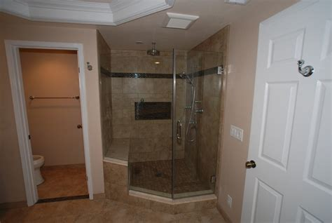 6 Foot Shower Pan by 6 Foot Tub In Window Alcove Glass Tile Inlaid Floors
