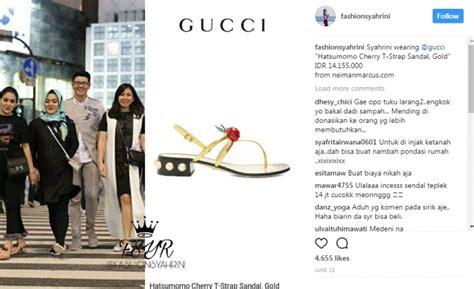 Harga Sandal Gucci Bulu terlihat biasa banget tapi harga sendal 5 artis ini sudah