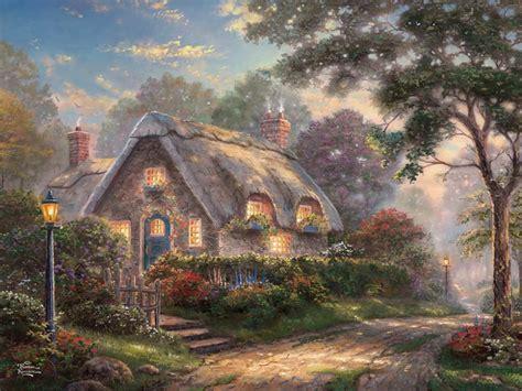 Kinkades Cottage by Lovelight Cottage Kinkade Special Edition Jigsaw
