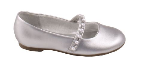 toddlers silver dress flat