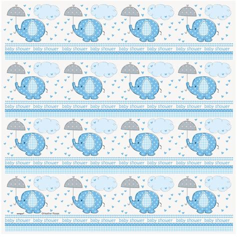 printable wrapping paper baby blue elephant baby shower gift wrapping roll boy baby