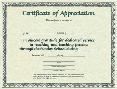 church certificates templates 10 best images of church certificate of appreciation
