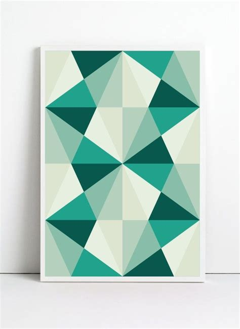 mid century geometric patterns poster mid century print retro print poster geometric print geometric poster
