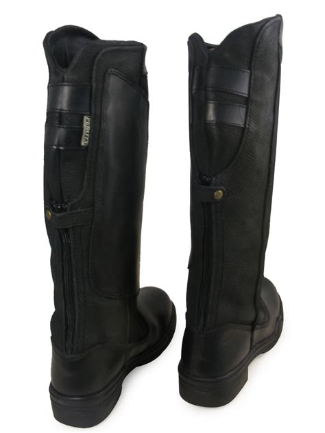 black equestrian leather walking country