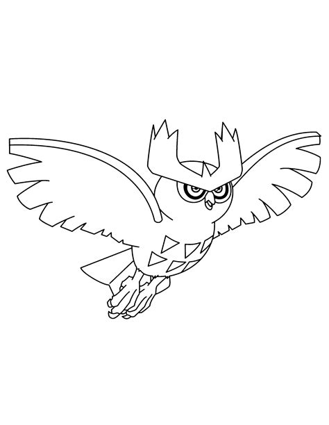 noctowl pokemon coloring pages noctowl pokemon coloring pages images pokemon images