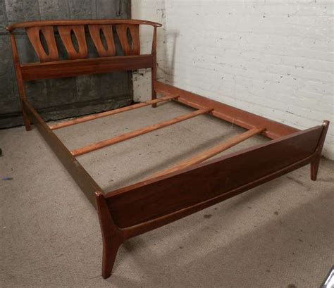 mid century bed frame sculpted mid century modern bed frame by kent coffey at