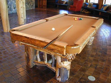 hand made rustic pool table by dan joseph woodworks