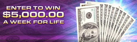 Winner Of 5000 A Week For Life From Pch - enter to win 5 000 cash a week for life 2016