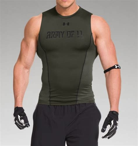 Singlet Armour Army s ua army of 11 football sleeveless compression shirt