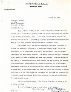 Appeal Letter Template For Secondary School Letter From E M Acting Dean Of Harvard School To Pauli Murray Declining Appeal