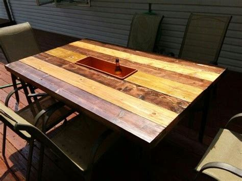 outdoor table top replacement wood replaced broken glass top on patio table with 2x6 boards