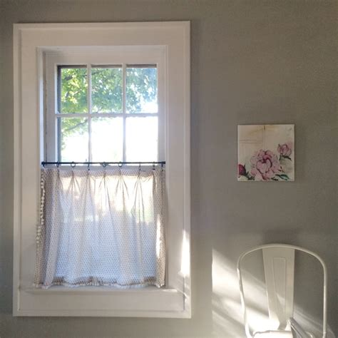 diy cafe curtains our home the kitchen diy cafe curtains lindsey kubly
