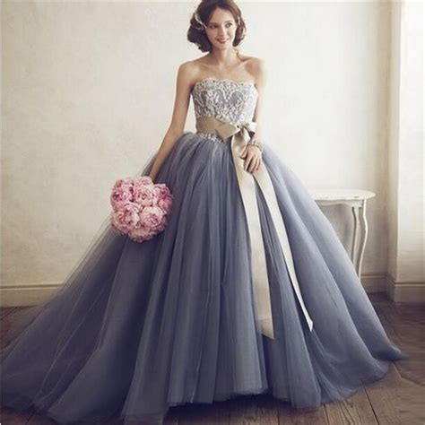 custom ball gown wedding dresses 2015 strapless