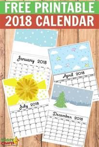 Calendar 2018 Print Free Free Printable 2018 Calendar Print Yours Here Kiddycharts