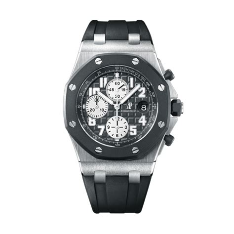 Audemars Piguet Roo Black Silver audemars piguet royal oak offshore black rubber bezel