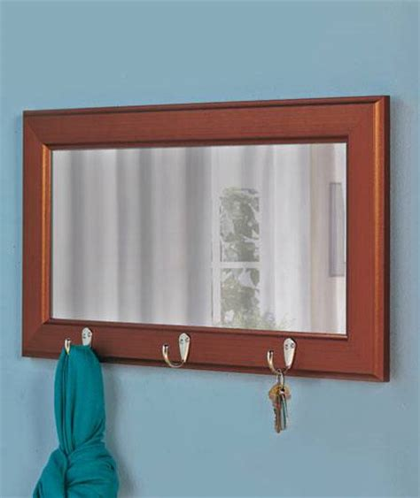 Landscape Edging Hooks Entry Mirror With Hooks Espresso Cool Entryway Mirror