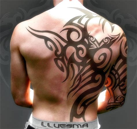 tribal back tattoos for guys tattoos for