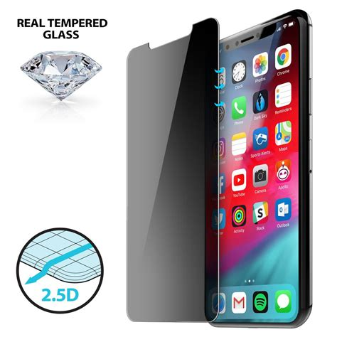 2 5d privacy tempered glass for iphone x xs iluv creative technology