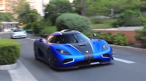koenigsegg one 1 blue video matte blue koenigsegg one 1 cruises in monaco