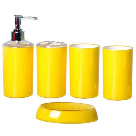 yellow bathroom set fashion candy color simple style bath accessories yellow