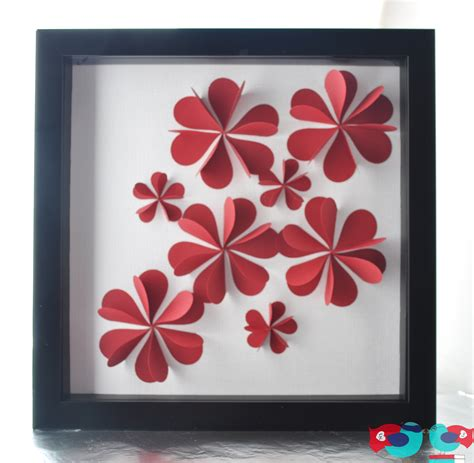 How To Make Prints On Paper - 3d flower using paper hearts the nerds