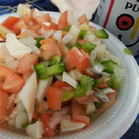 couch salad conch salad from the bahamas bahamas pinterest