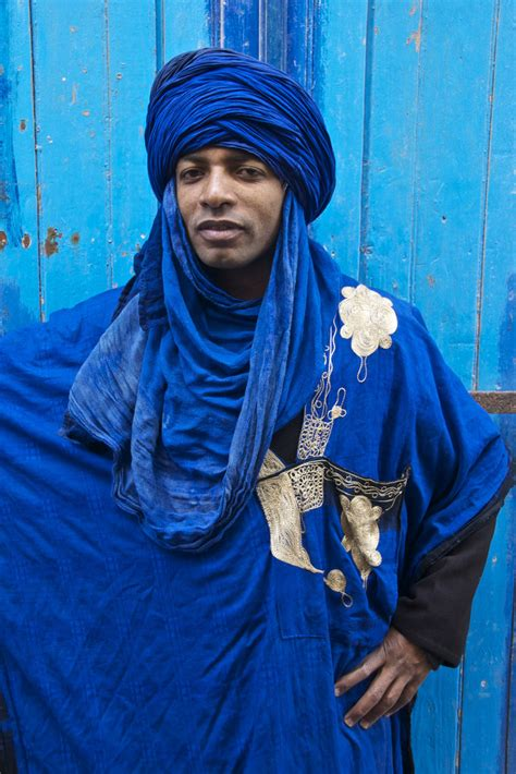 berber man in blue essaouira berber man in a blue