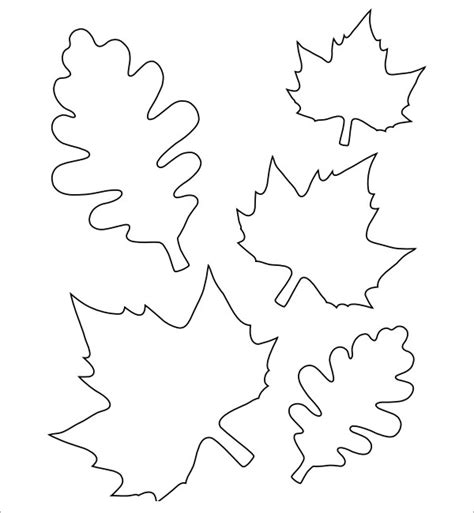 free leaf templates printable leaf template 7 free pdf sle templates