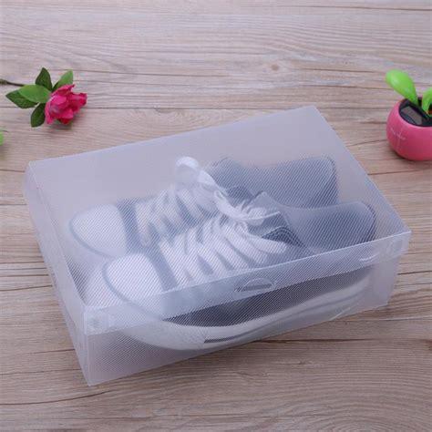 Promo Kotak Sepatu Plastic Box Shoes Transparant Sandal Warna Warni aliexpress buy 10pcs transparent clear plastic shoe box storage shoe boxes foldable shoes