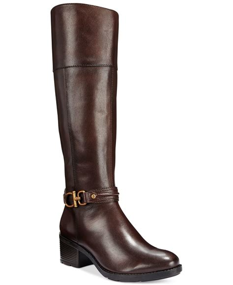 bandolino ulla boots in brown lyst